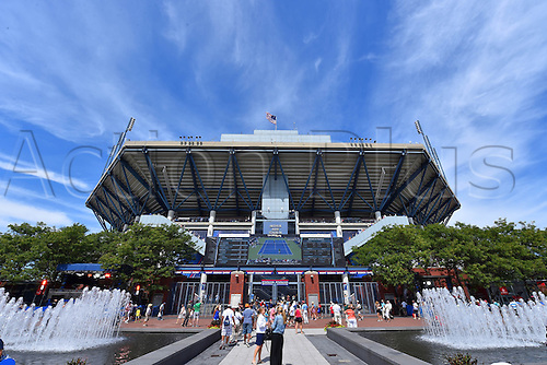 03.09.2014. New York, NY, USA. US Open Tennis tournament grand slam.  Stadium Arthur Ashe under bright sunny conditions
