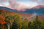 Autumn on Mount Washington in the Presidential Range in the White Mountain National Forest, Pinkham Notch, NH