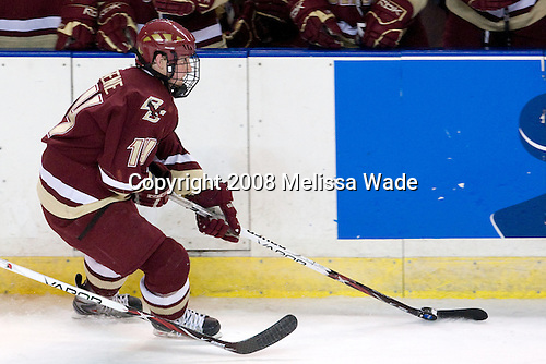Matt Greene (BC - 14) - The Boston College Eagles defeated the Miami University RedHawks 4-3 in overtime on Sunday, March 30, 2008 in the NCAA Northeast Regional Final at the DCU Center in Worcester, Massachusetts.
