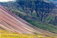 Pattern on mountain slope, Iceland