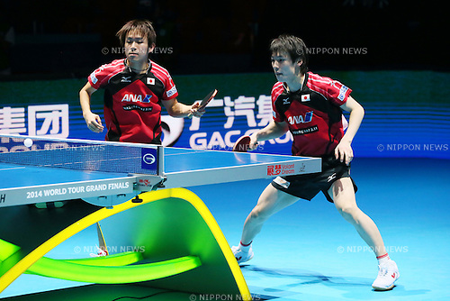 (L to R) <br /> Koki Niwa, <br /> Kenta Matsudaira (JPN), <br /> DECEMBER 13, 2014 - Table Tennis : <br /> GAC Group 2014 ITTF World Tour Grand Finals <br /> Men's Doubles Final <br /> at Indoor Stadium Huamark, Bangkok, Thailand <br /> (Photo by YUTAKA/AFLO SPORT) [1040]