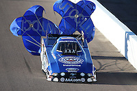 Feb. 22, 2013; Chandler, AZ, USA; NHRA funny car driver Robert Hight during qualifying for the Arizona Nationals at Firebird International Raceway. Mandatory Credit: Mark J. Rebilas-