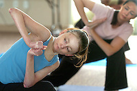 Cristina Perez attends yoga class at San Elijo Hills Community Center. Jamie Scott Lytle Photography