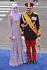 "30.04.2013; Amsterdam: KING WILLEM-ALEXANDER INAUGURATION.CROWN PRINCE AL-MUHTADEE BILLAH AND PENGIRAN ANAK SARAH OF BRUNEI.attend King Willem-Alexander's inauguration at Nieuwe Kerk, Amsterdam, The Netherlands, .Mandatory Credit Photos: ©NEWSPIX INTERNATIONAL..**ALL FEES PAYABLE TO: ""NEWSPIX INTERNATIONAL""**..PHOTO CREDIT MANDATORY!!: NEWSPIX INTERNATIONAL(Failure to credit will incur a surcharge of 100% of reproduction fees)..IMMEDIATE CONFIRMATION OF USAGE REQUIRED:.Newspix International, 31 Chinnery Hill, Bishop's Stortford, ENGLAND CM23 3PS.Tel:+441279 324672  ; Fax: +441279656877.Mobile:  0777568 1153.e-mail: info@newspixinternational.co.uk"