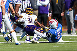 East Carolina Pirates running back Tay Williams (31) in action during the game between the East Caroline Pirates  and the SMU Mustangs at the Gerald J. Ford Stadium in Fort Worth, Texas.