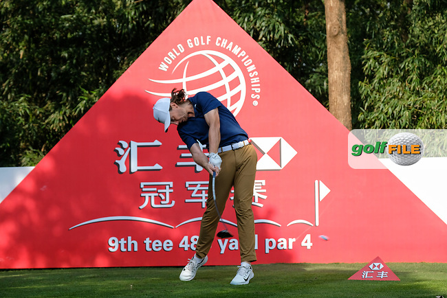 Tommy Fleetwood (ENG) on the 9th tee during round 1 of the 2017 WGC HSBC Champions, Sheshan International Golf Club, Shanghai, China PR. 26/10/2017<br /> Picture: Golffile | Fran Caffrey<br /> <br /> <br /> All photo usage must carry mandatory copyright credit (&copy; Golffile | Fran Caffrey)