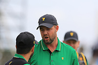 Abraham Ancer (International) and Marc Leishman (International) on the 2nd during the Second Round - Foursomes of the Presidents Cup 2019, Royal Melbourne Golf Club, Melbourne, Victoria, Australia. 13/12/2019.<br /> Picture Thos Caffrey / Golffile.ie<br /> <br /> All photo usage must carry mandatory copyright credit (© Golffile | Thos Caffrey)