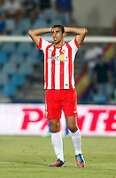 Almeria's  Hernan Dario during La Liga match.August 23,2013. (ALTERPHOTOS/Victor Blanco)