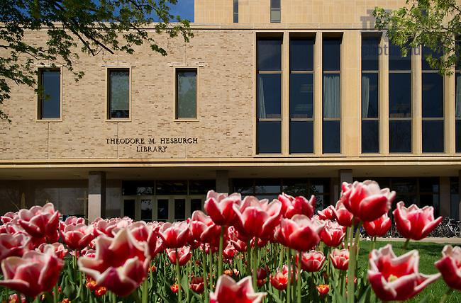 May 7, 2013; East door of Hesburgh Library..Photo by Matt Cashore/University of Notre Dame