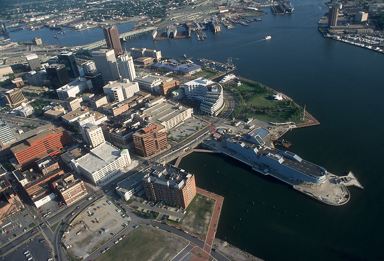 1993 August 19..Redevelopment.Downtown West (A-1-6)..NAUTICUS.LOOKING SOUTHEAST.FREEMASON HARBOR.WATERFRONT...NEG#.NRHA#..