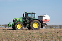Applying Yara Sulfan to oilseed rape<br /> &copy;Tim Scrivener Photographer 07850 303986<br />      ....Covering Agriculture In The UK....