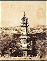 BNPS.co.uk (01202 558833)<br /> Pic: Reeman&amp;Dansie/BNPS<br /> <br /> View of the Summer Palace, Yuanmingyuan Pagoda, before the destruction by Lord Elgin and his troops.<br /> <br /> Rare photos showing some of the precious antiques looted from China's Summer Palace 156 years ago which Asian millionaires are today buying back in their droves have come to light.<br /> <br /> The images, taken by celebrated photographer Felice Beato soon after the theft, depict Ming vases, pots and bowls made for the Chinese emperor to display at the Imperial palace in Peking.<br /> <br /> The mystical building was partially destroyed by the British and French and its wealth of contents seized and taken to Europe at the end of the Second Chinese Opium War in 1860.<br /> <br /> The beautiful pieces of porcelain are the very objects the newly-rich Chinese are paying British auction houses millions of pounds for now as they attempt to buy back their lost heritage.