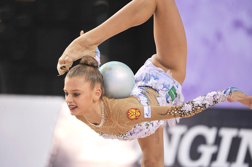 September 22, 2014 - Izmir, Turkey - ALEKSANDRA SOLDATOVA of Russia performs at 2014 World Championships.