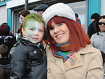 Sinead Crilly and Logan Carroll pictured at the Dunleer St. Patrick's day parade. Photo: Colin Bell/pressphotos.ie