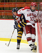 Zach Davies (Quinnipiac - 3), Eric Kroshus (Harvard - 10) - The visiting Quinnipiac University Bobcats defeated the Harvard University Crimson 3-1 on Wednesday, December 8, 2010, at Bright Hockey Center in Cambridge, Massachusetts.