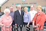DEPARTURE: Staff of St John's Parish Centre wishing Msgr. Dan O'Riordan best wishes on his departure to Castleisland. L-r: Kathleen O'Shea, Fr Padraig Kennelly, Msgr. Dan O'Riordan, Mary Donnelly, Fr Padraig Walsh and Doreen Butler.   Copyright Kerry's Eye 2008