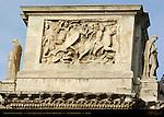 Arch of Constantine 315 AD East Attic Panel Dacian Prisoners Via Triumphalis Rome