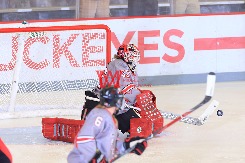The Ohio State Universtiy women's hockey team defeat RPI at the Ice Rink. September 29, 2017