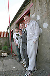 Frances Crickley's son Jason Myles (name not to be used in the paper) with his teenage friends who use Frances's shed as a place to hang out.  Frances has given them permission to do this so that they have somewhere safe to be..Photo NEWSFILE/Jenny Matthews.(Photo credit should read Jenny Matthews/NEWSFILE)....This Picture has been sent you under the condtions enclosed by:.Newsfile Ltd..The Studio,.Millmount Abbey,.Drogheda,.Co Meath..Ireland..Tel: +353(0)41-9871240.Fax: +353(0)41-9871260.GSM: +353(0)86-2500958.email: pictures@newsfile.ie.www.newsfile.ie.FTP: 193.120.102.198.