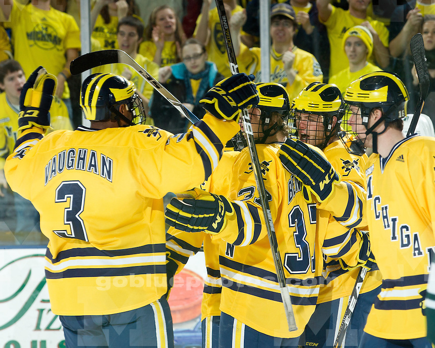 University of Michigan ice hockey 4-0 victory over Michigan State at Yost Ice Arena in Ann Arbor MI, on January 8, 2011.
