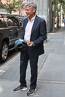 NEW YORK, NY - SEPTEMBER 8:  Former New Mexico Governor Gary Johnson, U.S. presidential candidate representing the Libertarian Party,  spotted leaving 'The View'  in New York, New York on September 8, 2016.  Photo Credit: Rainmaker Photo/MediaPunch