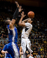 Richard Solomon of California shoots the ball during the game against Creighton at Haas Pavilion in Berkeley, California on December 15th, 2012.   Creighton defeated California, 74-64.