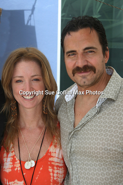 Thorsten Kaye - All My Children & wife Susan Haskell (OLTL) donate thier time at the 12th Annual SoapFest - Painting Party to benefit Marco Island YMCA, theatre program & Art League of Marco Island on May 15, 2010 on Marco Island, FLA. (Photo by Sue Coflin/Max Photos)