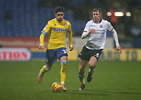 Leeds United's Pablo Hernandez and Bolton Wanderers' Josh Vela<br /> <br /> Photographer Stephen White/CameraSport<br /> <br /> The EFL Sky Bet Championship - Bolton Wanderers v Leeds United - Saturday 15th December 2018 - University of Bolton Stadium - Bolton<br /> <br /> World Copyright &copy; 2018 CameraSport. All rights reserved. 43 Linden Ave. Countesthorpe. Leicester. England. LE8 5PG - Tel: +44 (0) 116 277 4147 - admin@camerasport.com - www.camerasport.com