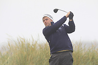Gary Collins (Rosslare) on the 1st tee during Round 1 - Matchplay of the North of Ireland Championship at Royal Portrush Golf Club, Portrush, Co. Antrim on Wednesday 11th July 2018.<br /> Picture:  Thos Caffrey / Golffile