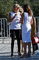 Pictured: (L-R) Brigitte Macron and Peristera (Betty) Baziana at the Acropolis in Athens, Greece. Thurday 07 September 2017<br /> Re: Brigitte Macron, the wife of French President Emmanuel Macron, was given a tour of the Acropolis by Betty (Peristera) Baziana, the wife of Greek Prime Minister ALexis Tsipras during their state visit to Athens, Greece.