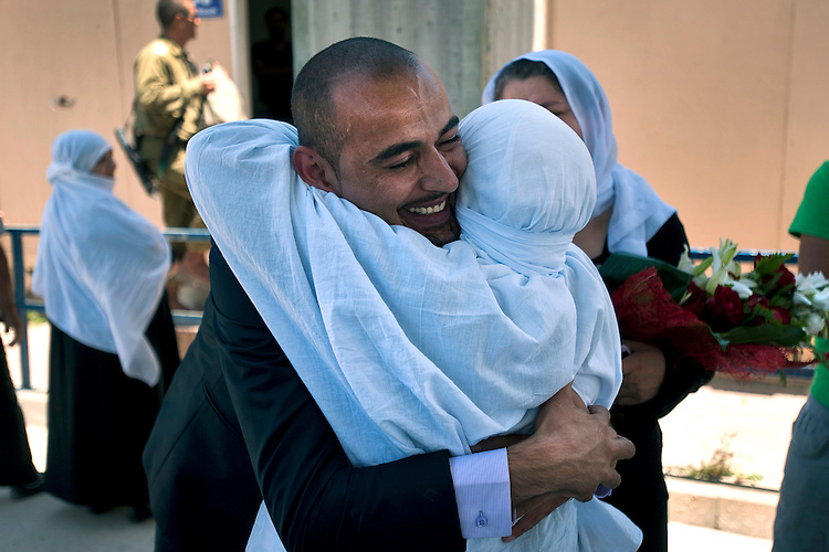 A Druze student is welcomed by his mother at Quneitra border-crossing in Israel-Syria border, upon his return from studies at Damascus University in Syria.