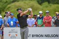 Brian Gay (USA) watches his tee shot on 1 during round 4 of the AT&T Byron Nelson, Trinity Forest Golf Club, at Dallas, Texas, USA. 5/20/2018.<br /> Picture: Golffile | Ken Murray<br /> <br /> All photo usage must carry mandatory copyright credit (© Golffile | Ken Murray)