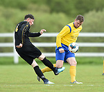 Henry O Neill of Kilkenny in action against Colin Ryan of Clare during their Oscar Traynor semi-final at Frank Healy Park, Doora. Photograph by John Kelly.