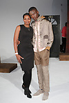Model poses with mother after the Descendant of Thieves Fall Winter 2019 collection fashion show, by Matteo Maniatty, on February 4, 2019; at 55 Water Street for New York Men's Day Fall Winter 2019, during New York Fashion Week: Men's Fall Winter 2019.