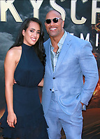 MediaPunchNEW YORK, NY - JULY 10: Simone Johnson and Dwayne Johnson at the New York Premiere of Skyscraper at AMC Loews Lincoln Square in New York City on July 10, 2018. <br /> CAP/MPI99<br /> &copy;MPI99/Capital Pictures