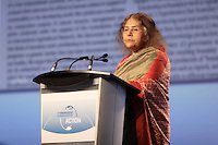 Montreal (QC) CANADA - April 2012 File Photo -   Dr Sheila Jasanoff , forzheimer Professor of Science and Technology Studies at the Harvard Kennedy School speak at IPY (International Polar Year) 2012 conference held at Montreal Convention Centre -