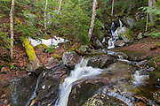 Fleming Flume on Elephant Head Brook in Carroll, New Hampshire during the spring months. This brook is near the Webster-Jackson Trail.