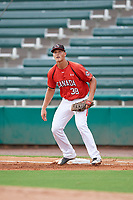 Canadian Junior National Team Owen Diodati (38) during a Florida Instructional League game against the Atlanta Braves on October 9, 2018 at the ESPN Wide World of Sports Complex in Orlando, Florida.  (Mike Janes/Four Seam Images)