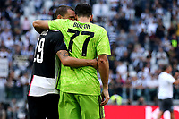 Leonardo Bonucci of Juventus , Gianluigi Buffon of Juventus <br /> Torino 28/09/2019 Allianz Stadium <br /> Football Serie A 2019/2020 <br /> Juventus FC - SPAL <br /> Photo OnePlusNine / Insidefoto