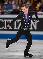 24th March 2018, Mediolanum Forum, Milan, Italy;  Mikhail KOLYADA (RUS) during the ISU World Figure Skating Championships, Men Free Skating at Mediolanum Forum in Milan, Italy