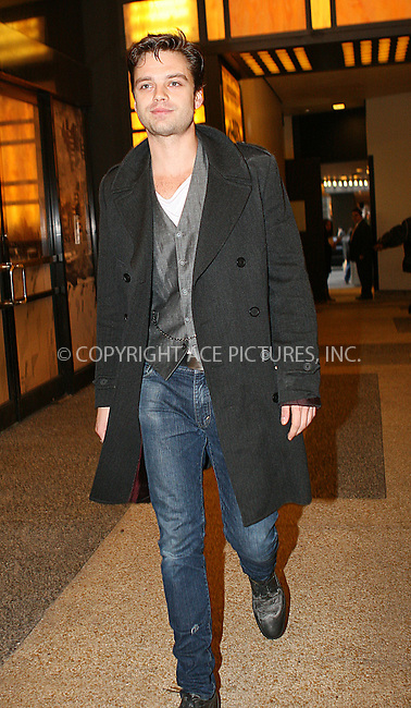 WWW.ACEPIXS.COM . . . . .  ....November 24 2009, New York City....Actor Sebastian Stan at the Alexa Chung Show on November 24 2009 in New York City....Please byline: NANCY RIVERA- ACE PICTURES.... *** ***..Ace Pictures, Inc:  ..tel: (212) 243 8787 or (646) 769 0430..e-mail: info@acepixs.com..web: http://www.acepixs.com