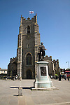 Thomas Gainsborough statue, Church of Saint Peter and Market Hill, Sudbury, Suffolk, England