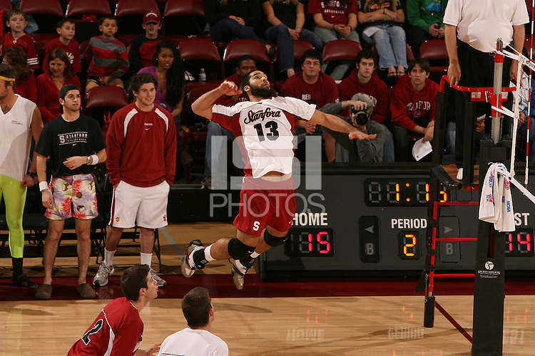 STANFORD, CA - JANUARY 30:  Jason Palacios of the Stanford Cardinal during Stanford's 3-2 win over the Long Beach State 49ers on January 30, 2009 at Maples Pavilion in Stanford, California.