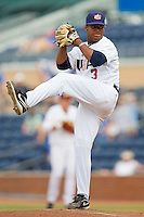 Marcus Stroman #3 (Duke) of the USA Baseball Collegiate National Team in action against the Japan Collegiate National Team at the Durham Bulls Athletic Park on July 3, 2011 in Durham, North Carolina.  USA defeated Japan 7-6.  (Brian Westerholt / Four Seam Images)