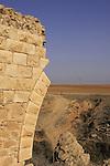 Israel, Coastal Plain, remains of the Turkish railroad bridge over Nahal Pura