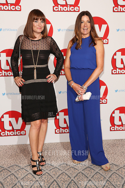Louise Marwood &amp; Katherine Dow Blyton at The TVChoice Awards 2016 at the Dorchester Hotel, London. <br /> September 5, 2016  London, UK<br /> Picture: James Smith / Featureflash