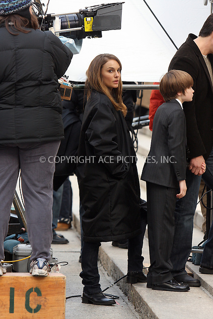 """WWW.ACEPIXS.COM . . . . .  ....December 18 2008, New York City....Actors Natalie Portman and Charlie Tahan on the set of the movie """" 17 Photos of Isabel"""" in lower Manhattan on December 18 2008 in New York City....Please byline: AJ Sokalner - ACEPIXS.COM..... *** ***..Ace Pictures, Inc:  ..tel: (212) 243 8787..e-mail: info@acepixs.com..web: http://www.acepixs.com"""