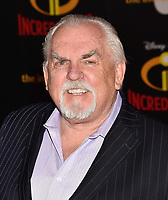 HOLLYWOOD, CA - JUNE 05: John Ratzenberger attends the premiere of Disney and Pixar's 'Incredibles 2' at the El Capitan Theatre on June 5, 2018 in Los Angeles, California.<br /> CAP/ROT/TM<br /> &copy;TM/ROT/Capital Pictures