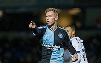 Jason McCarthy of Wycombe Wanderers during the Sky Bet League 2 match between Wycombe Wanderers and Portsmouth at Adams Park, High Wycombe, England on 28 November 2015. Photo by Andy Rowland.