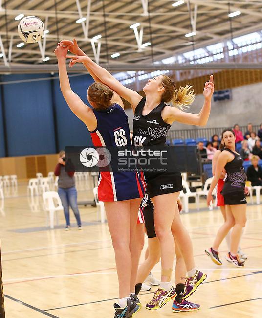 NELSON, NEW ZEALAND - September 5: Netball Semi-Final Stoke v Prices on September 5th  2015 at Saxton Stadium in Nelson, New Zealand. (Photo by: Evan Barnes Shuttersport Limited)